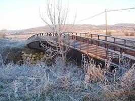 El nuevo puente un día helador